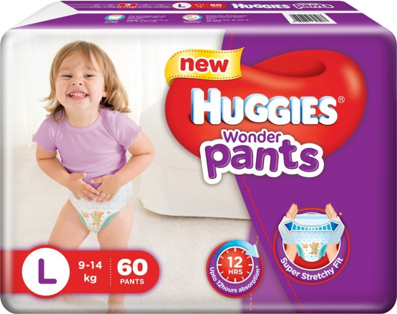 Huggies Wonder Pants Large Size Diapers - L(60 Pieces)