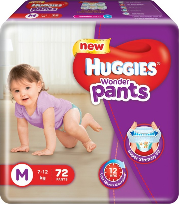 Huggies Wonder Pants Medium Size Diapers - M(72 Pieces)