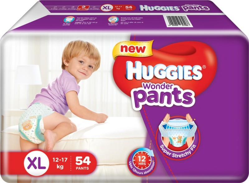 Huggies Wonder Pants Extra Large Diapers - XL(54 Pieces)