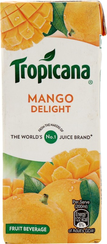 Tropicana Mango Delight Fruit Beverage 200 ml
