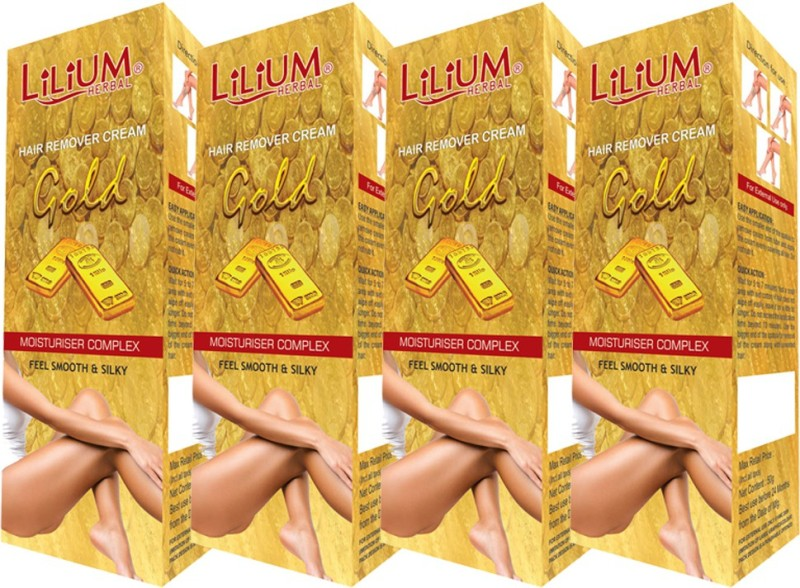 LILIUM Gold Hair Removal Cream 50g Pack of 4 Cream(50 g)