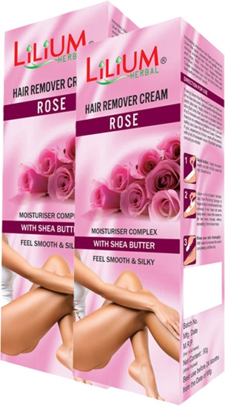 LILIUM Rose Hair Removal Cream 50g Pack of 2 Cream(50 g)