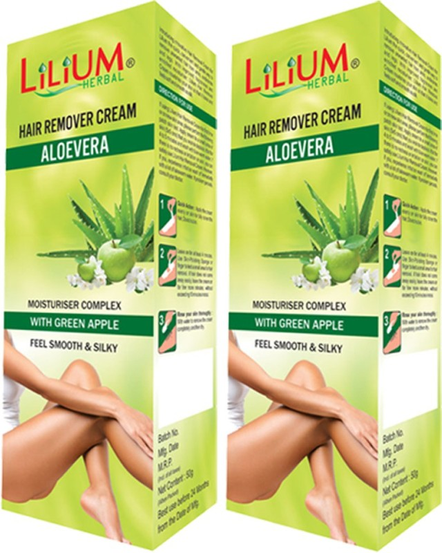 LILIUM Aloe Vera Hair Removal Cream 50g Pack of 2 Cream(50 g)