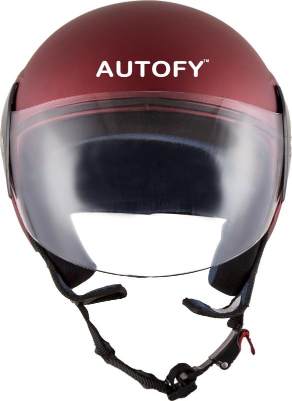 Autofy Habsolite Estilo With Scratch-Resistant Retractable Visor Motorbike, Motorsports Helmet(Matte Red)