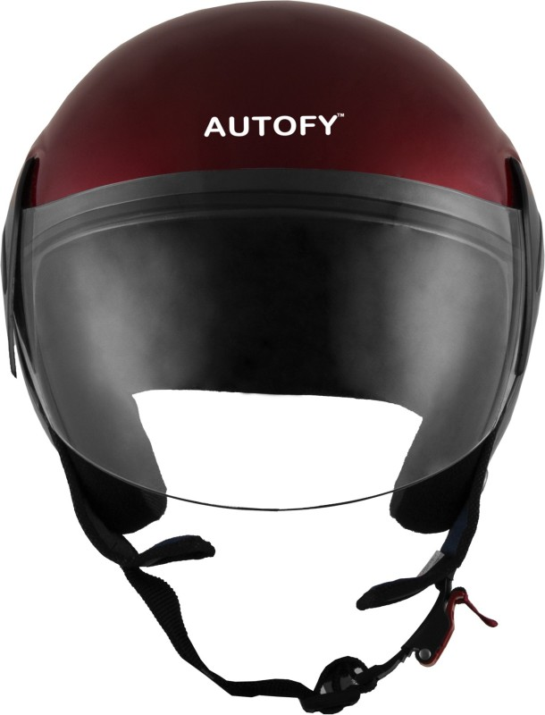 Autofy Habsolite Estilo-With Scratch Resistant Retractable Visor Motorbike, Motorsports Helmet(Red)