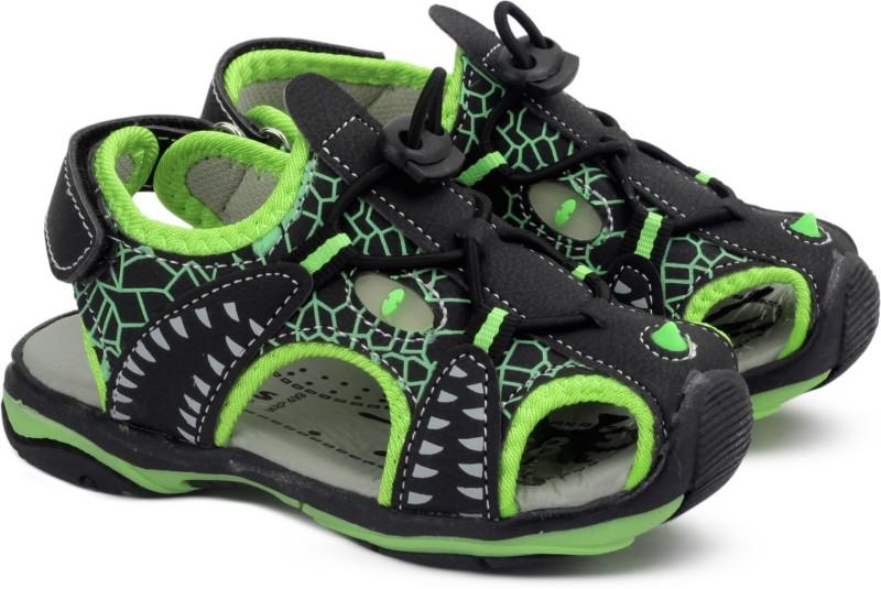 KITTENS Boys Velcro Sports Sandals(Black)