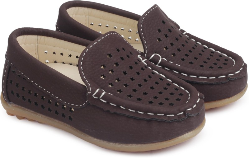 KITTENS Boys Slip on Loafers(Brown)