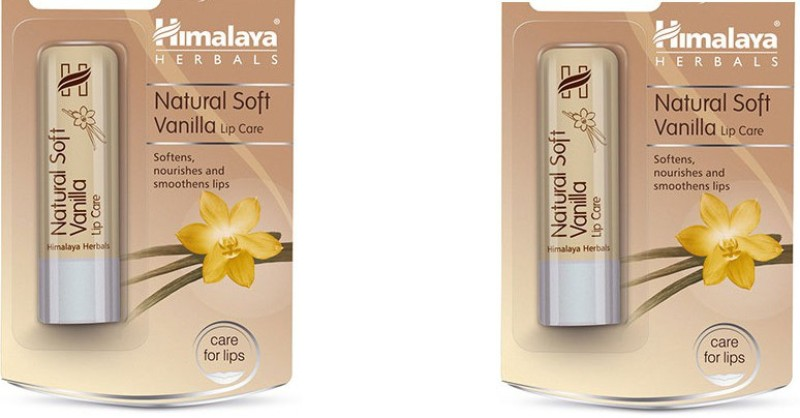 Himalaya Natural Soft Lip Care Vanilla(Pack of: 2, 9 g)