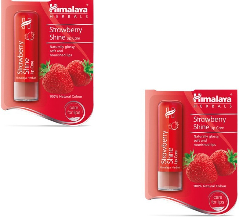 Himalaya Shine Lip Care Strawberry(Pack of: 2, 9 g)