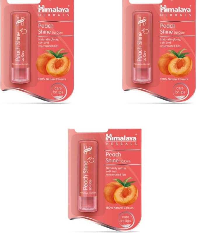 Himalaya Shine Lip Care Balm Peach(Pack of: 3, 13.5 g)