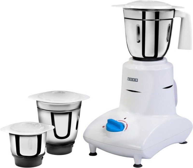 Usha MG 2753 550 W Mixer Grinder(White, 3 Jars)