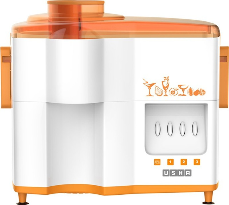Usha JMG 3442 Popular 450 W Juicer Mixer Grinder(Orange, 2 Jars)