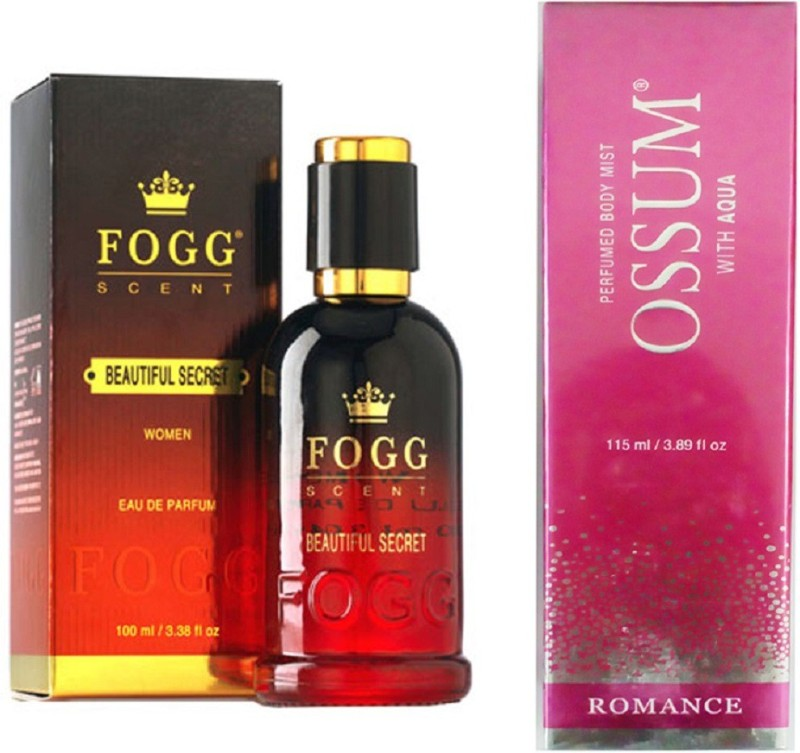 Fogg BEAUTIFUL SECRET PERFUME 90ML + OSSUM ROMANCE Perfume  -  115 ml(For Women)