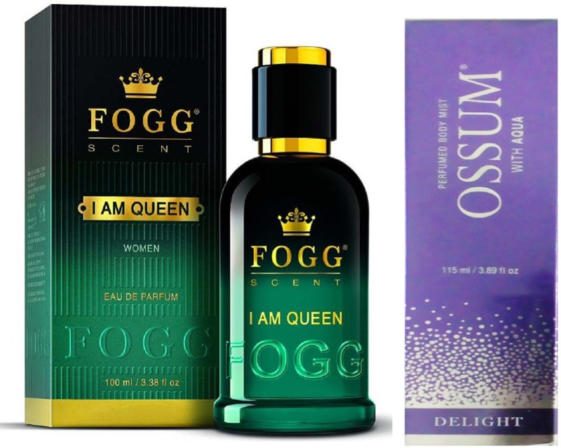 Fogg I AM QUEEN 90M PERFUME +OSSUME DELIGHT Perfume  -  115 ml(For Women)