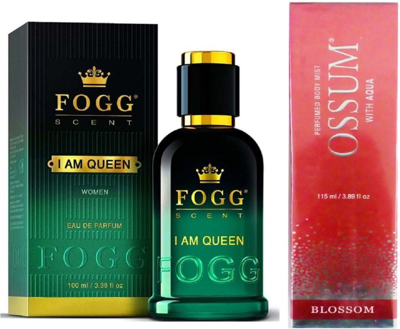Fogg I AM QUEEN PERFUME 90 ML+ OSSUM BLOSSOM Perfume  -  115 ml(For Women)