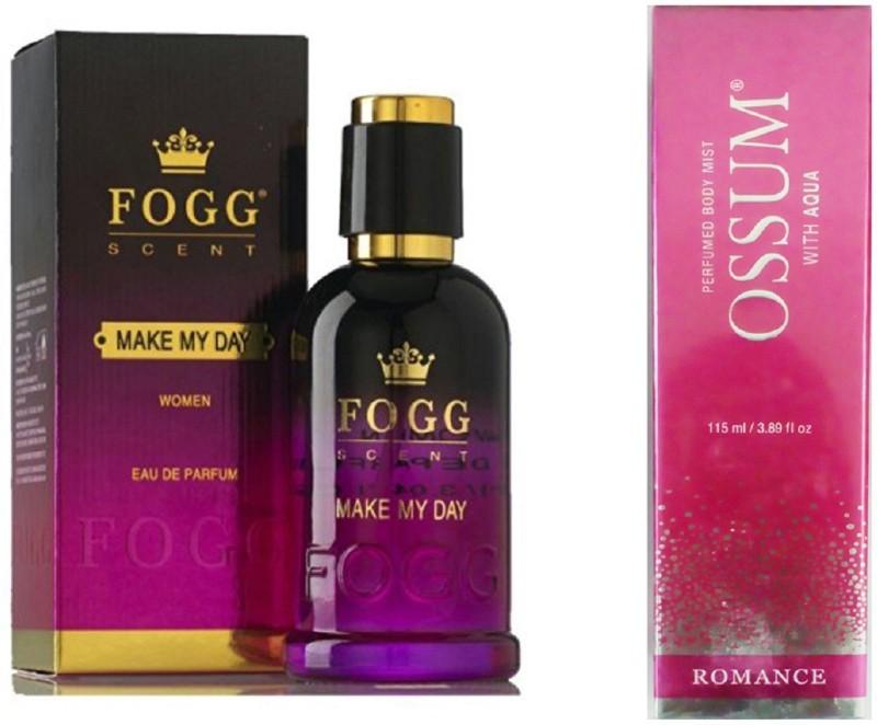 FOGG MAKE MY DAY PERFUME 90ml +OSSUM ROMANCE Perfume - 115 ml(For Women)