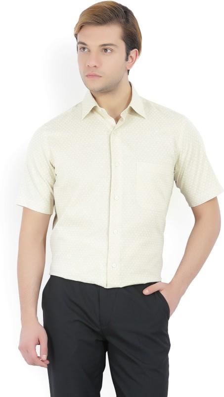Arrow Mens Floral Print Formal Beige Shirt