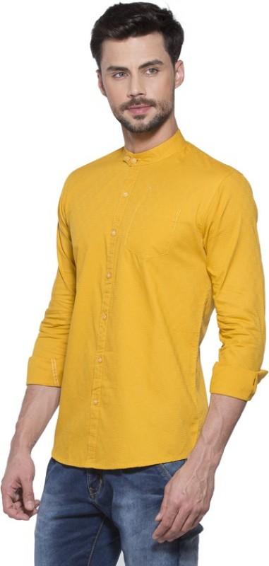 1. Yo Republic Men's Solid Casual Yellow Shirt
