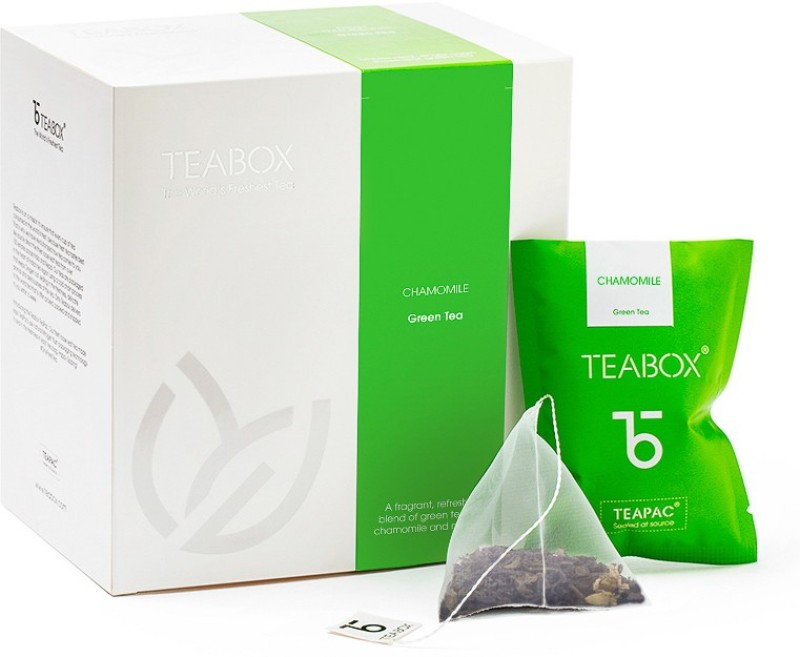 Teabox Chamomile Fresh Nitrogen-flushed Teabag Chamomile, Marigold Green Tea Bags(16 Bags, Box)