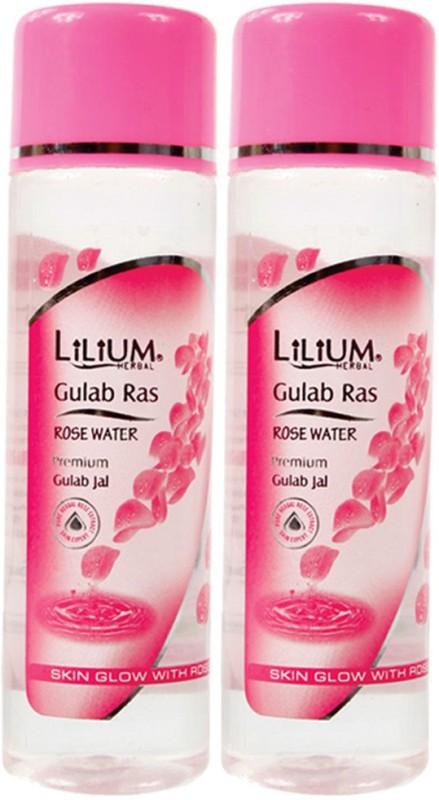 LILIUM Gulab Ras Rose Water 120ml Pack of 2(120 ml)