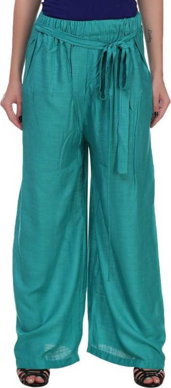 Myshka Regular Fit Womens Green Trousers