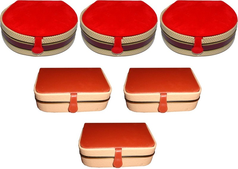 Aadhya Combo of ring & bangle box pack of 6 Vanity Box(Multicolor)