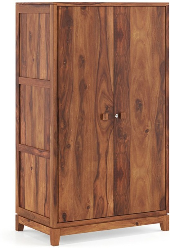 Urban Ladder Magellan Wardrobe Solid Wood 2 Door Wardrobe(Finish Color - Teak)