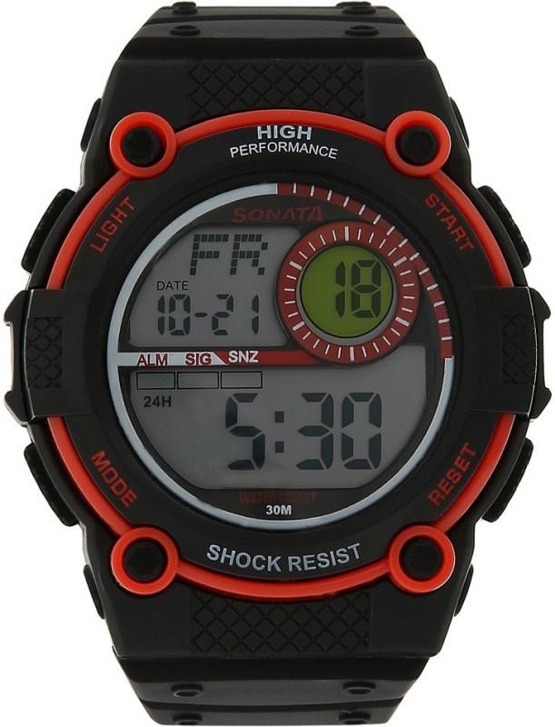 Sonata NH77004PP02J Digital Watch - For Men