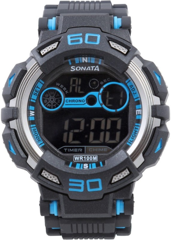 Sonata NH77009PP02J Ocean Digital Watch - For Men