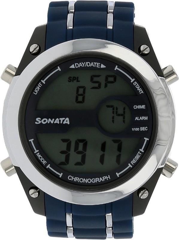 Sonata NH77034PP03 Digital Watch - For Men