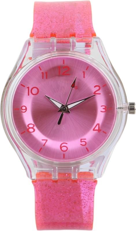 Declasse SPARKLING DARK PINK Analog Watch - For Girls