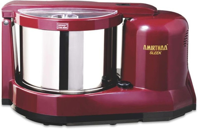 AMIRTHAA SLEEK Table Top Wet Grinder (Wine Red) Wet Grinder(Maroon)