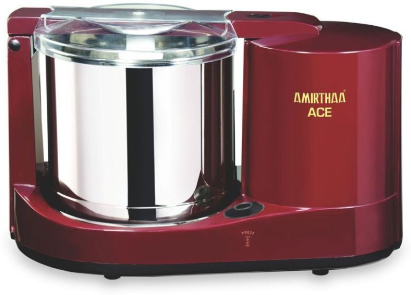 AMIRTHAA ACE 110V - 1.25 L Table Top Wet Grinder (Wine Red) Wet Grinder(Maroon)