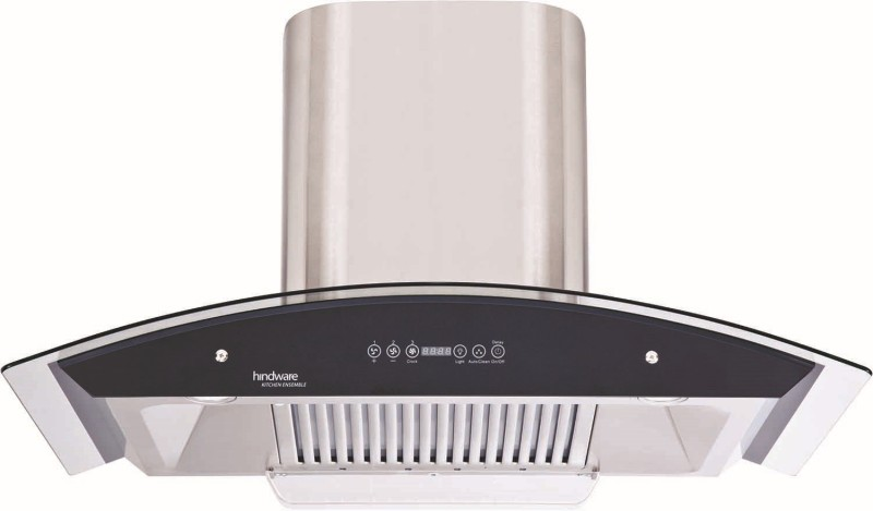 Hindware Cleo 90 - Auto Clean Hood Wall Mounted Chimney(Brush Sliver 1200)