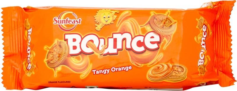 Sunfeast Bounce Tangy Orange Cream Biscuit(82 g)