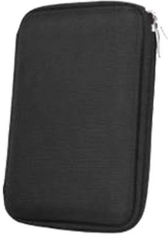 Frndzmart Water Proof, Shock Resistant External Hard Disk Case for 2.5 inch Transcend StoreJet 25H3P 2TB External HardDisk(For All 2.5 Inch External Hard drives, Mat Black) Image