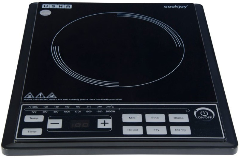 Usha IC C2102P Induction Cooktop(Black, Push Button)