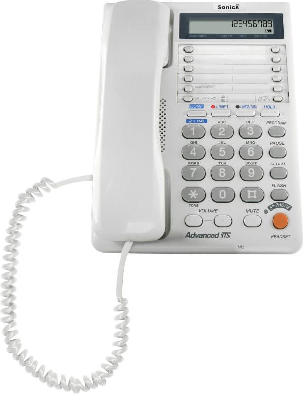 Sonics SS-517D-OFF WHITE Corded Landline Phone(OFF-WHITE)