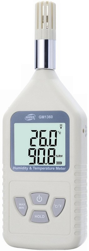 Benetech GM1360 Humidity and Temperature Meter Pin-Type Digital Moisture Measurer(.5 mm)