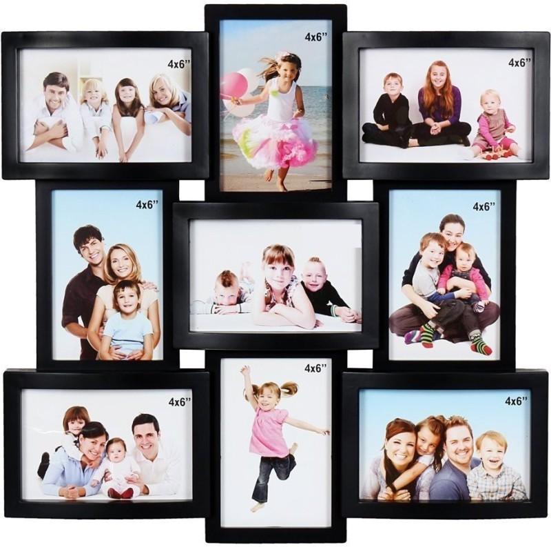 JaipurCrafts Acrylic Photo Frame(Black, 9 Photos)
