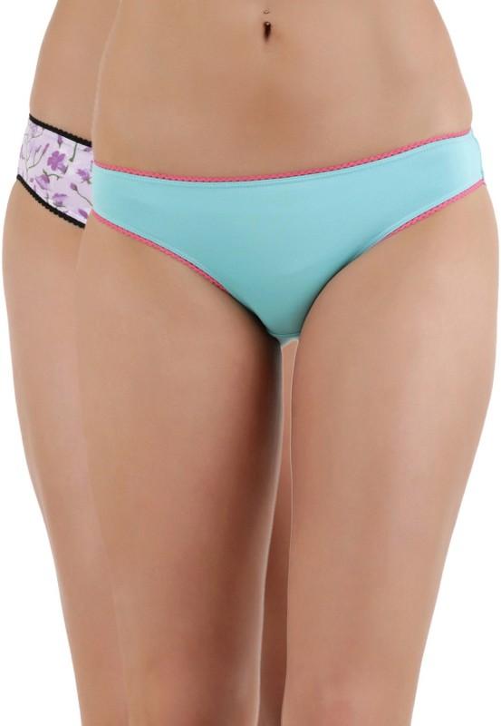Zivame Womens Bikini Multicolor Panty(Pack of 2)