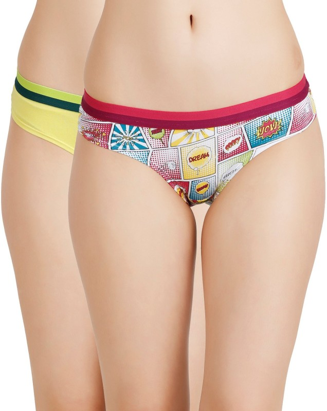 Zivame Womens Hipster Multicolor Panty(Pack of 2)