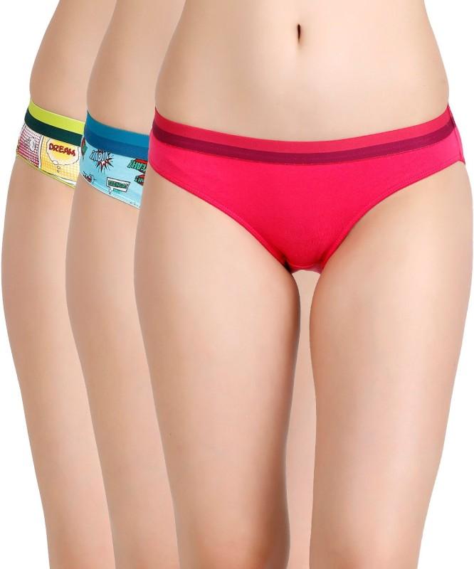 Zivame Womens Bikini Multicolor Panty(Pack of 3)
