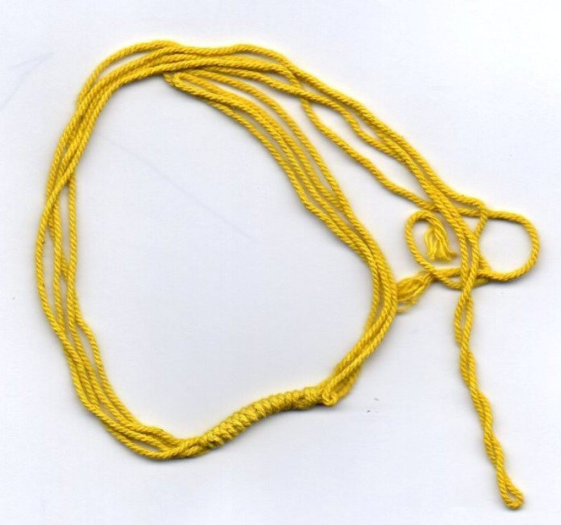 MNA Ananta Thread Yellow Cotton Ribbon(Pack of 10)