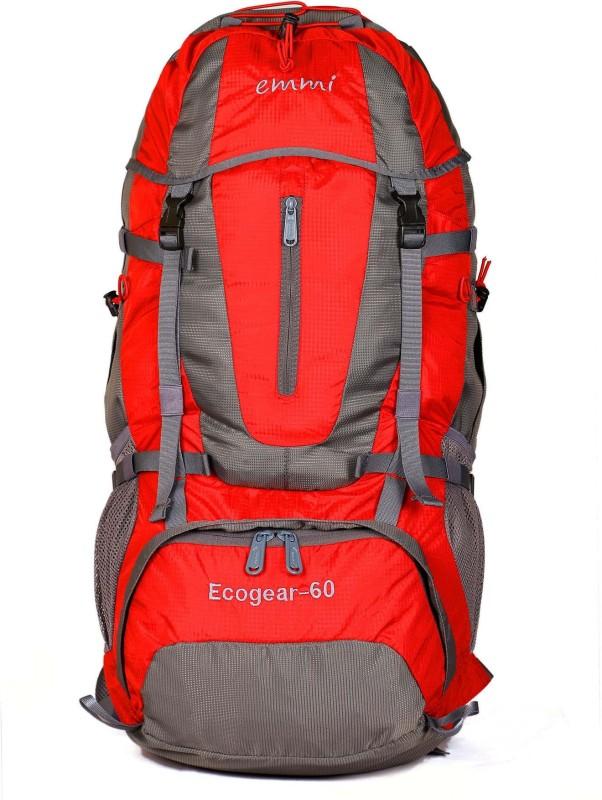 EMMI BAGS Ecogear 60 Liters Rucksack Rucksack - 60 L(Red)