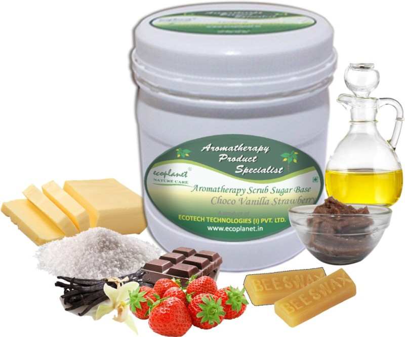 ecoplanet Aromatherapy Scrub Sugar Base Choco Vanilla Strawberry Scrub(1000 g)
