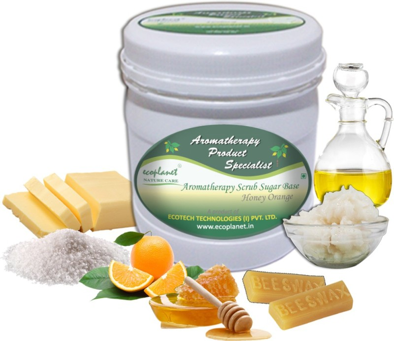 ecoplanet Aromatherapy Scrub Sugar Base Honey Orange Scrub(1000 g)