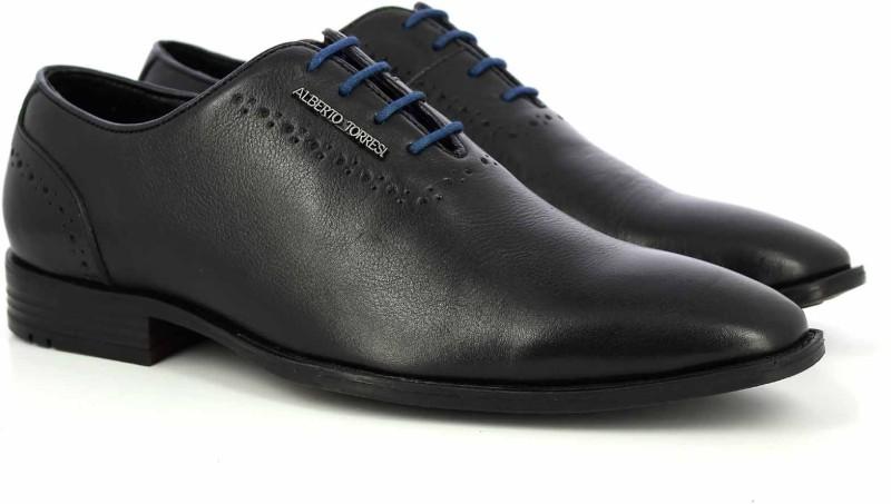 Alberto Torresi Derby For Men(Black, Blue)