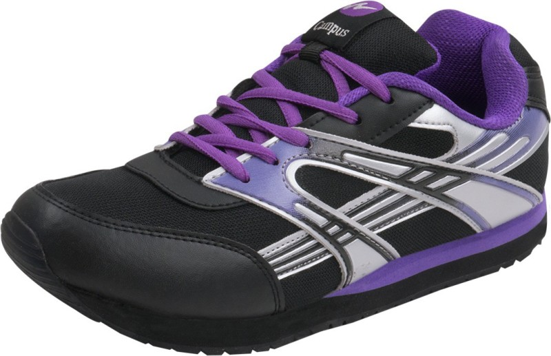 Campus NJ-205 Running ShoesBlack Silver Purple