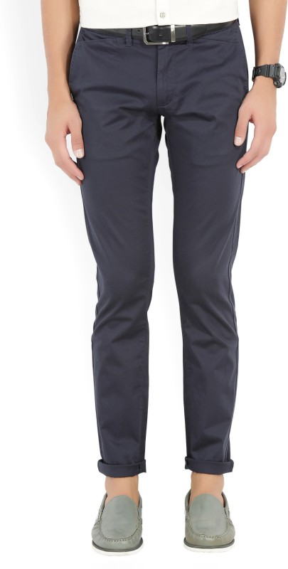 Flying Machine Slim Fit Men's Blue Trousers
